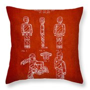 Lego Toy Figure Patent - Red Throw Pillow