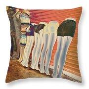 Legs 846a Throw Pillow