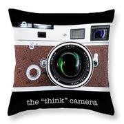 Leica M7 Throw Pillow by Dave Bowman
