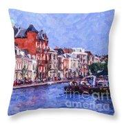 Leiden Canal Throw Pillow
