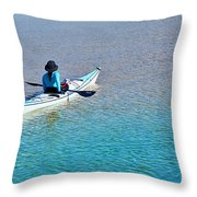 Leisure On The Lake Throw Pillow