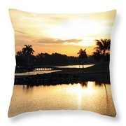 Lely Sunrise Over The Flamingo Throw Pillow