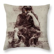 Lemmy Throw Pillow by Jarno Lahti