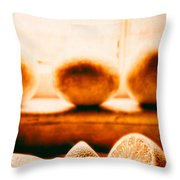 Lemon Among Oranges Throw Pillow