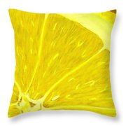 Lemon Throw Pillow by Anastasiya Malakhova