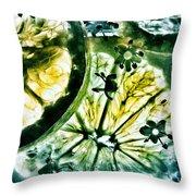 Lemon And Elderflower  Throw Pillow