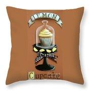 Lemon Cupcake Throw Pillow