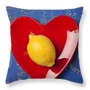 Lemon Heart Throw Pillow by Garry Gay