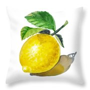 Artz Vitamins The Lemon Throw Pillow