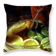 Lemon Limeade Throw Pillow