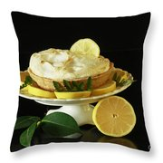 Lemon Meringue Delight Throw Pillow