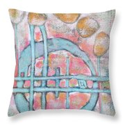 Lemon Rocks And Water Rings Throw Pillow