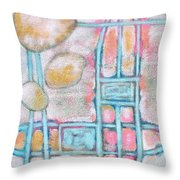 Lemon Rocks Paperclips And Water Trails Throw Pillow