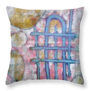 Lemon Rocks Water Lines And Gravity Throw Pillow