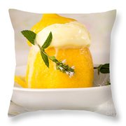lemon Sorbet   Throw Pillow