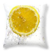 Lemon Splash Throw Pillow
