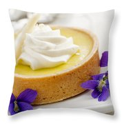 Lemon Tart  Throw Pillow