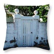Lemon Tree Gate Throw Pillow