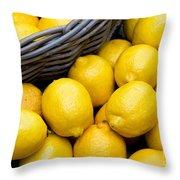 Lemons 01 Throw Pillow