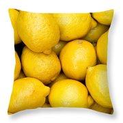 Lemons 02 Throw Pillow