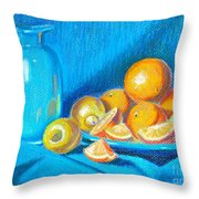 Lemons And Oranges Throw Pillow
