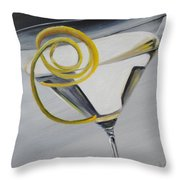 Lemontini Throw Pillow