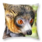 Lemur 004 Throw Pillow
