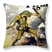 Lend The Way They Fight, 1918 Throw Pillow