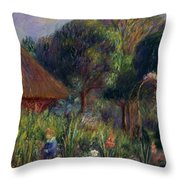 Lenna By A Summer House Throw Pillow by William James Glackens