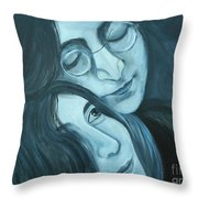 Lennon And Ono Throw Pillow