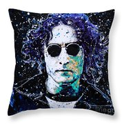 Lennon Throw Pillow by Chris Mackie