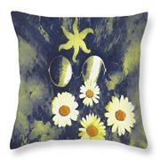 In The Gothic Night With  Stars Throw Pillow