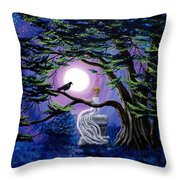 Lenore By A Cypress Tree Throw Pillow
