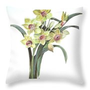 Lent Lily Throw Pillow