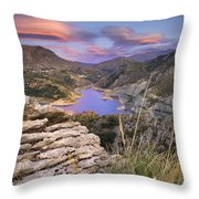 Lenticular Clouds At Canales Lake Throw Pillow