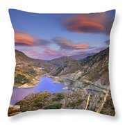 Lenticular Clouds At The Red Sunset Throw Pillow