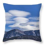 Lenticular Clouds Forming 493 Throw Pillow