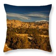Lenticular Clouds Near Tesuque Pueblo Nm Throw Pillow