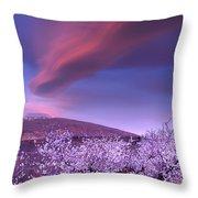 Lenticular Clouds Over Sierra Nevada Throw Pillow