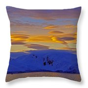 Lenticular Clouds Throw Pillow