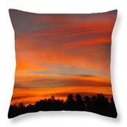 Lenticular Sunrise Throw Pillow