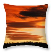 Lenticular Sunset 1 Throw Pillow