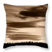 Lenticular Sunset 2 Throw Pillow