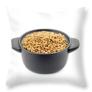 Lentils In A Black Cup Throw Pillow