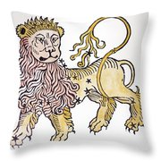 Leo An Illustration From The Poeticon Throw Pillow