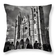 Leon Cathedral Throw Pillow