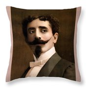 Leon Herrmann, French Magician Throw Pillow