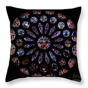 Leon Spain Cathedral Rosette Throw Pillow