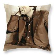 Leonard Cohen Artwork 2 Throw Pillow