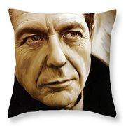Leonard Cohen Artwork Throw Pillow